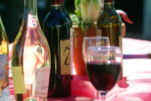 Slow Food Festival attendees could choose between several types of wine.